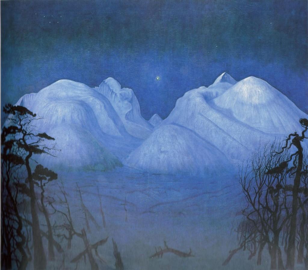 Vinternatt i fjellene