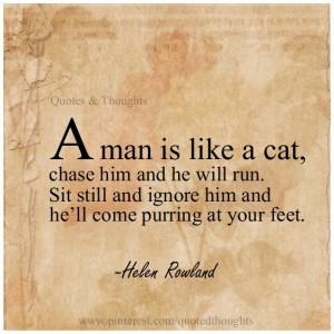 Man is like a Cat